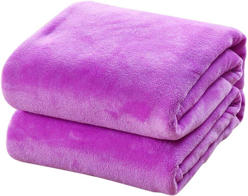 TREESTAR Mantas de bebé para niños otoño e Invierno bebé recién Nacido Copo de Nieve pequeña Manta de Pelo Manta de Siesta Size 50 * 70CM (Purple)