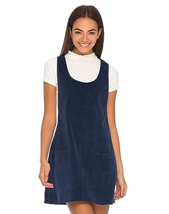 f1125ba031 Motelrocks - Bridget Pinafore Dress in Baby Cord Navy by Motel   Amazon.co.uk  Clothing