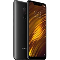 "Xiaomi Pocophone F1 64GB + 6GB RAM, Dual Camera, 6.18"" LTE Factory Unlocked Smartphone - Global Version (Graphite Black)"
