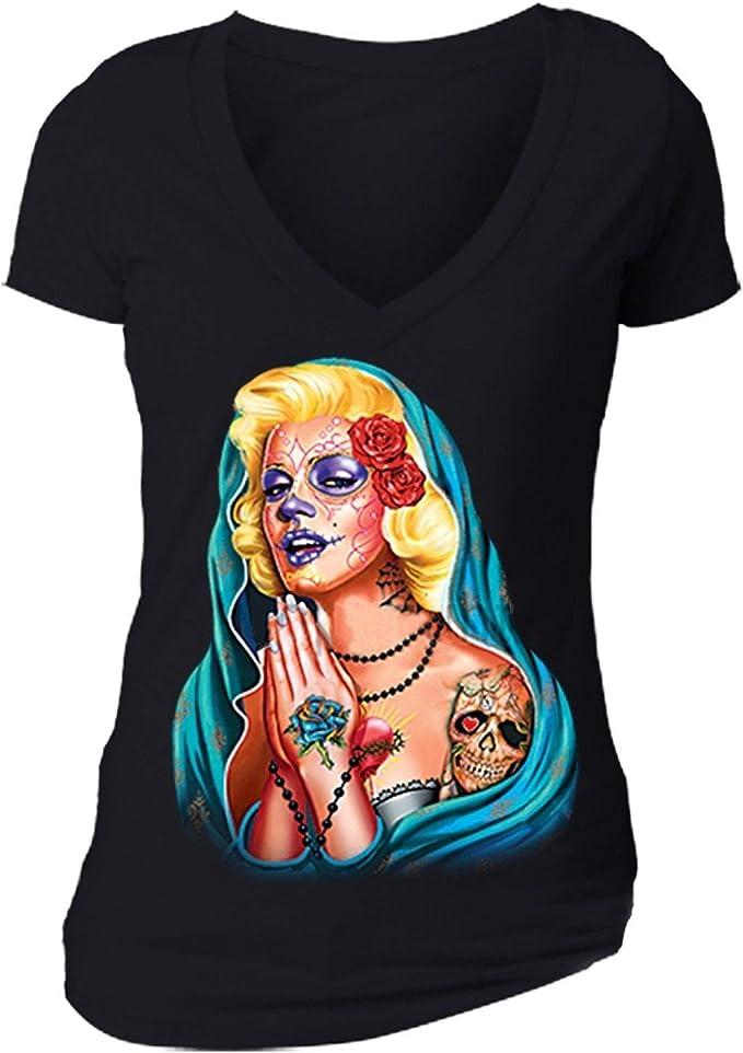XtraFly Apparel Mens Dead Dia Los Muertos Marilyn Monroe Tank-Top