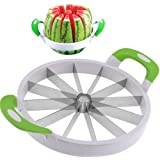 DOBO® Taglia affetta melone e anguria cocomero lama in acciaio 12 fette affetta frutta - 17.5 cm o 22 cm di diametro (22 cm di Diametro)