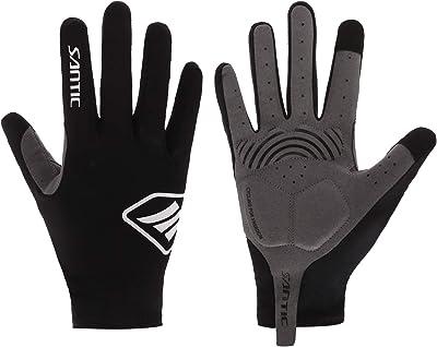 Santic サイクルグローブ 自転車グローブ サイクリンググローブ 吸湿 スマホ対応 衝撃吸収パット 耐磨通気性 3色 男女兼用