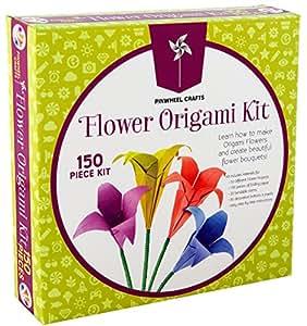 db7774d8d Amazon.com  Kids Origami Paper Folding Kit  Girls Multi Color ...