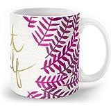 Society6 Treat Yo Self – Pink & Gold Mug 11 oz