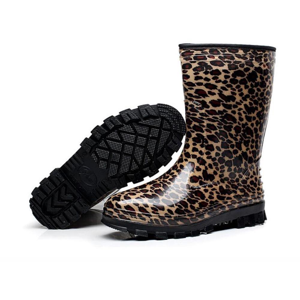 SIHUINIANHUA In der Tube Lady Regenstiefel Antirutsch-Regenstiefel Wasserdichte Schuhe 1 1 1 38 6e2ab1