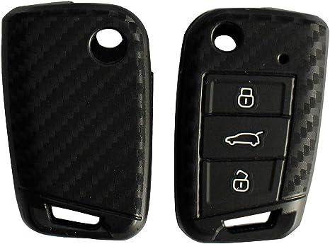 Fassport CV9800 Guscio in silicone per chiave a 3 pulsanti Seat e Skoda per Volkswagen