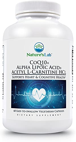 CoQ10 Alpha Lipoic Acid Acetyl L-Carnitine HCl – 60 Capsules 1 Month Supply Supports Heart, Brain and Cell Health.