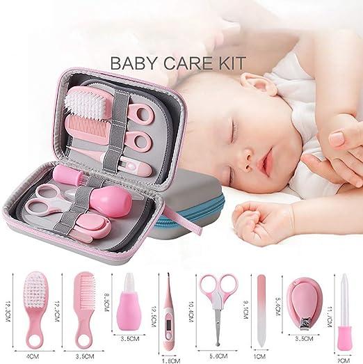 CSFM-Baby 8 en 1 Productos para bebés Bebé recién Nacido Cuidado de la Salud del Pelo de uñas Termómetro Set de Kit de Aseo Corporal (Rosado): Amazon.es: Hogar
