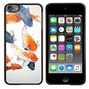 Planetar® ( Pintura de Orange Blue Lagoon ) Apple iPod Touch 6 6th Touch6 Fundas Cover Cubre Hard Case Cover