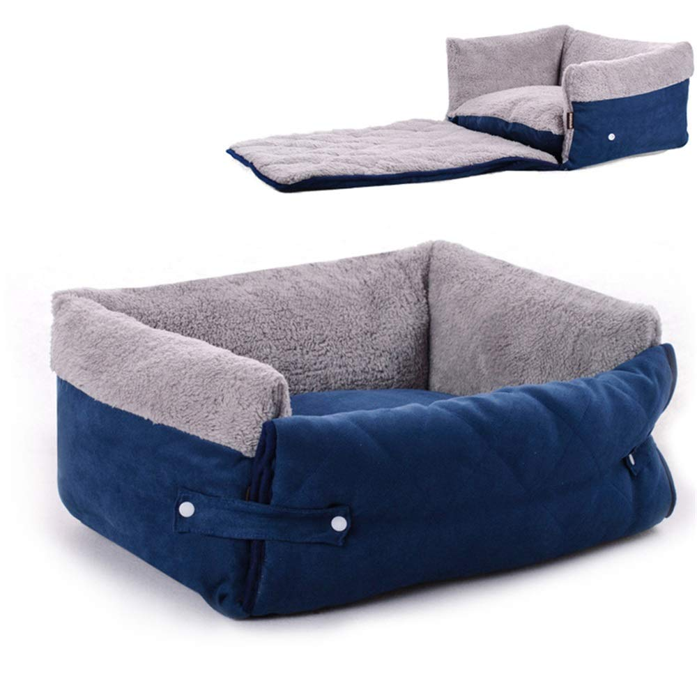 Medium The Pet Play mat Multi-Function Flip Pet Nest Cat Litter Dog Bed Soft Warm Small Pet Bed Detachable Pet Supplies (Size   M)