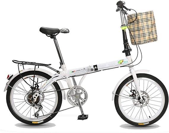 TXTC Urban Commuter Bici Plegable, 20 Pulgadas De Ruedas ...