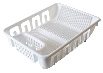United Solutions SK0109 White All In One Standard Plastic Sink And Kitchen  Dish Rack   Self