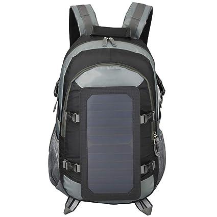 WishY 7W Paneles Solares Solar Mochilas, Cargador Solar ...