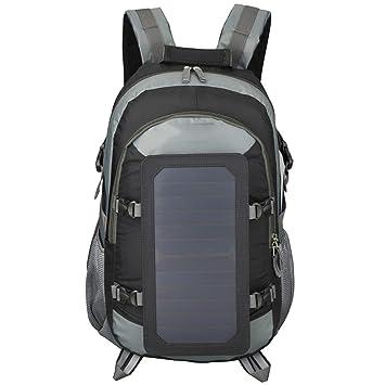 Amazon.com: EFGS Mochila con panel solar de 7 W, cargador ...