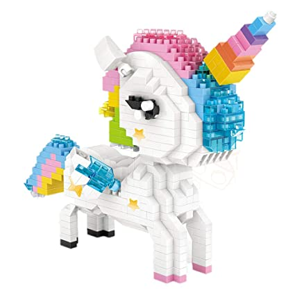 Amazon LOZ Building Blocks Bricks Miniature Unicorn Toys For Kids Girls Adults Birthday DIY Craft Gifts Games