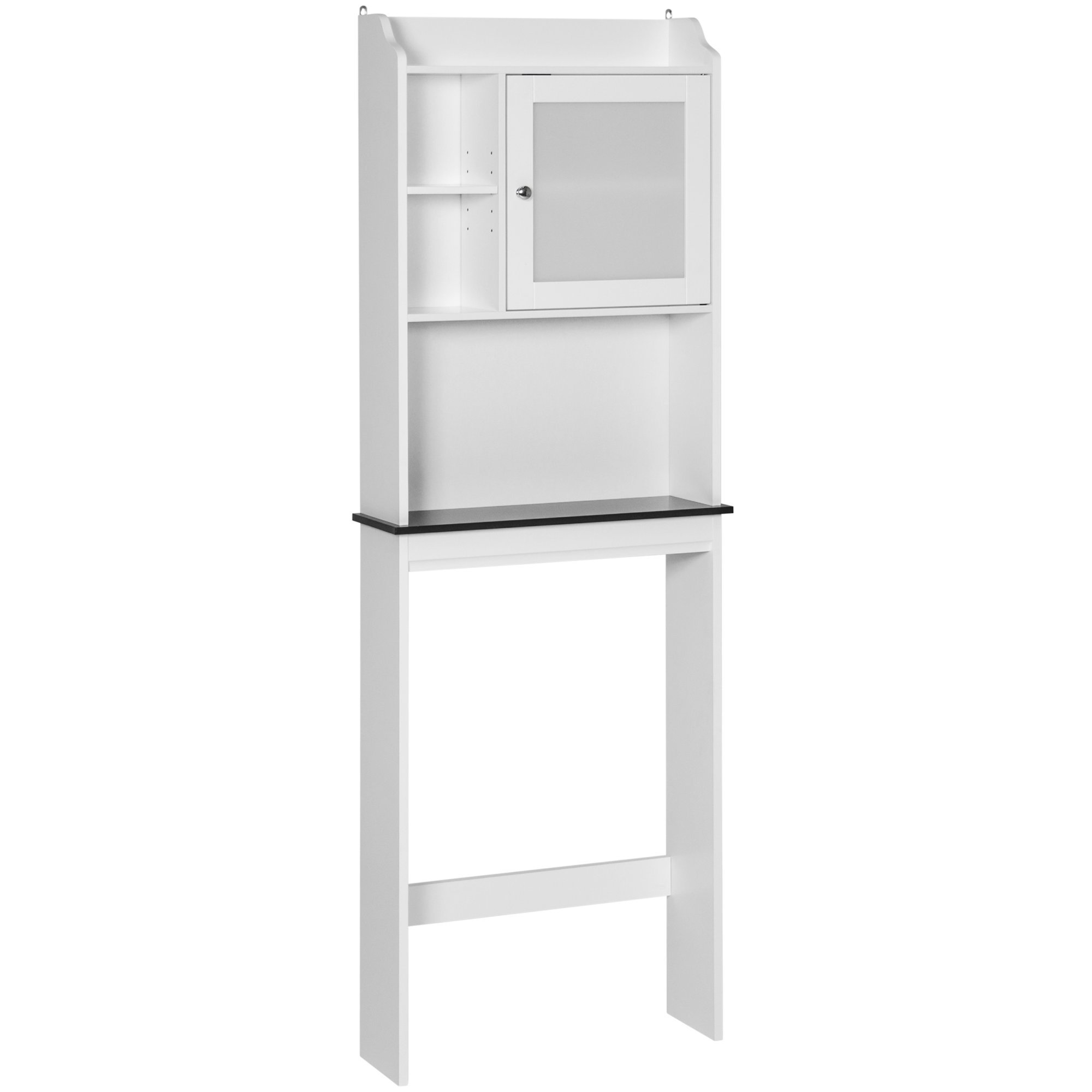 Bathroom Over The Toilet Space Saver Storage Cabinet, Modern Contemporary Design White Finish Slim Profile Provides Extra Storage While Saving Plenty of Bathroom Space by AVA Furniture