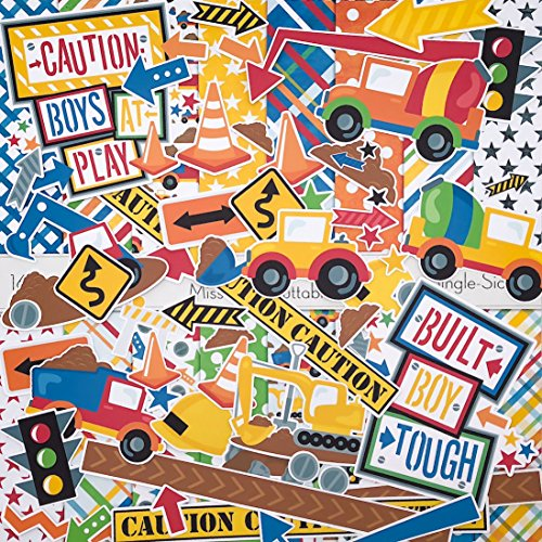 Built Boy Tough Set - Matching Die Cuts & Paper Kit by Miss Kate Cuttables - 16 Single - Sided 12