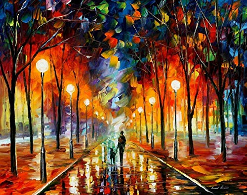 Friendship - Palette Knife Landscape Contemporary Art Wall Decor Oil Painting On Canvas By Leonid Afremov - Size: 40