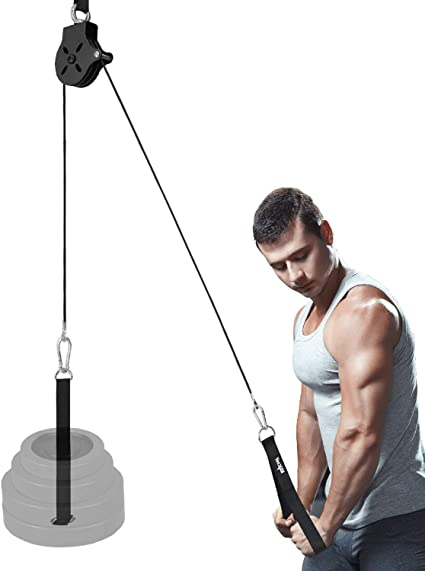 """Fit 2/"""" Olympic Weight Plates Yes4All Pulley Cable Attachment Sets"""