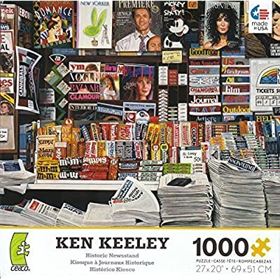 Historic Newstand By Ken Keeley 1000 Piece Puzzle by George: Toys & Games