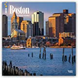 Boston 2018 12 x 12 Inch Monthly Square Wall Calendar, USA United States of America Massachusetts Northeast City (Multilingual Edition)