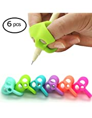 Pencil Grips,YuBoBo Finger Grip 2018 Generation New Mechanical Pencil Grip Elephant Shape for Kids Preschoolers Children Adults Special Needs for Left or Right Hand (6PCS)