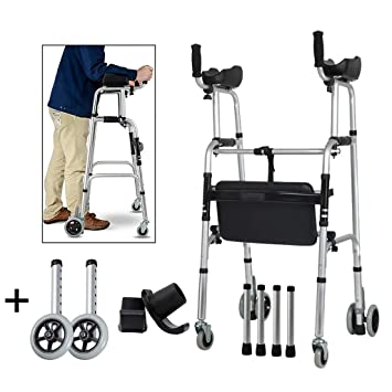 Amazon.com: FKDEWALKER - Andador con ruedas y reposabrazos ...