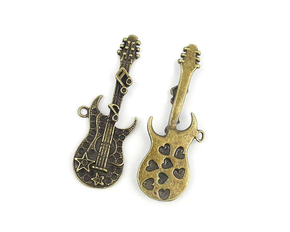 Joyería Making charms bu009 guitarra eléctrica antiguo bronce ...