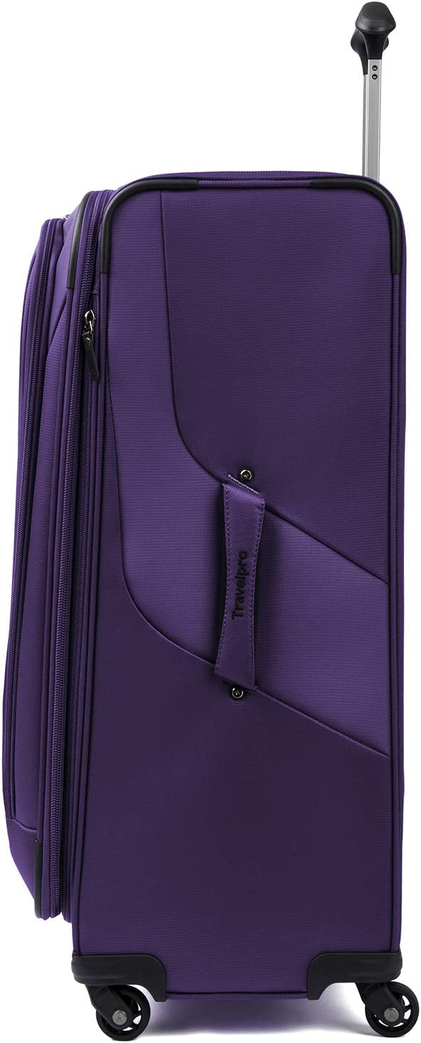 Purple Travelpro Maxlite 4-Softside Expandable Luggage with Spinner Wheels