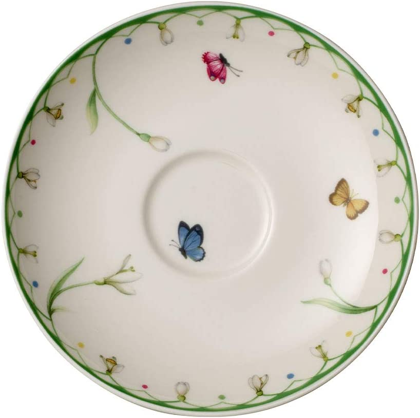 White//Colored 5.5 in Villeroy /& Boch Spring Coffee Cup Saucer