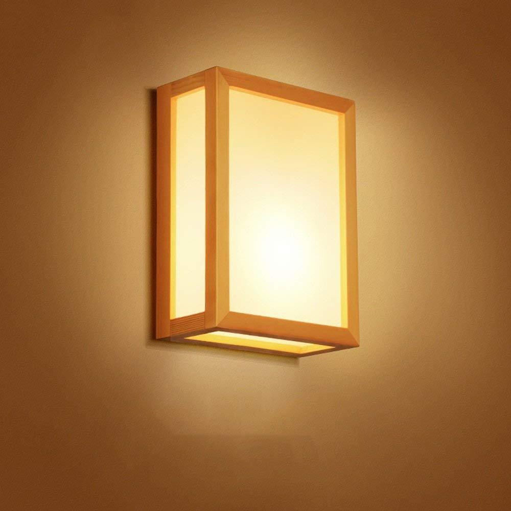 SED Wandlampe-Europäischen modernen minimalistischen Balkon führte Holz Kunst Wand Lampe Nacht Schlafzimmer Gang Wohnzimmer Wandleuchte - Wand Beleuchtung Dekorationen