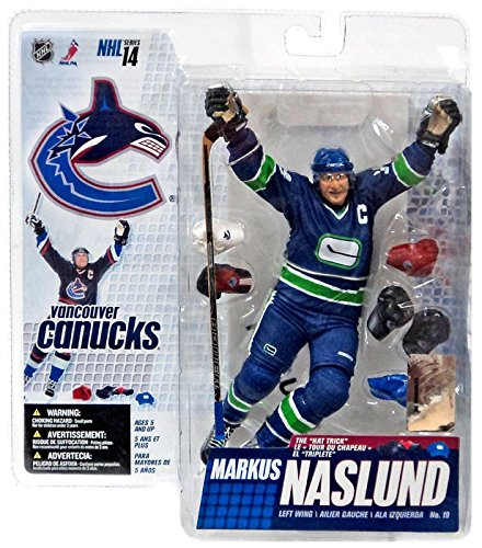 (McFarlane Toys NHL Sports Picks Series 14 Action Figure Markus Naslund (Vancouver Canucks) Retro Blue Green Jersey Variant)