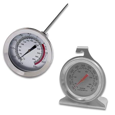 Juego de 2 termómetros de acero inoxidable para el control del ...