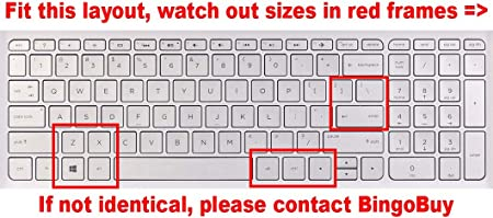 15-an051dx 15-ab220nr 15-af120nr 15-af175nr 15-ak020nr semi-black such as 15-ac121dx US layout Keyboard Protector Skin Cover for HP 15-ab 15-ac 15-ae 15-af 15-an 15-ak series