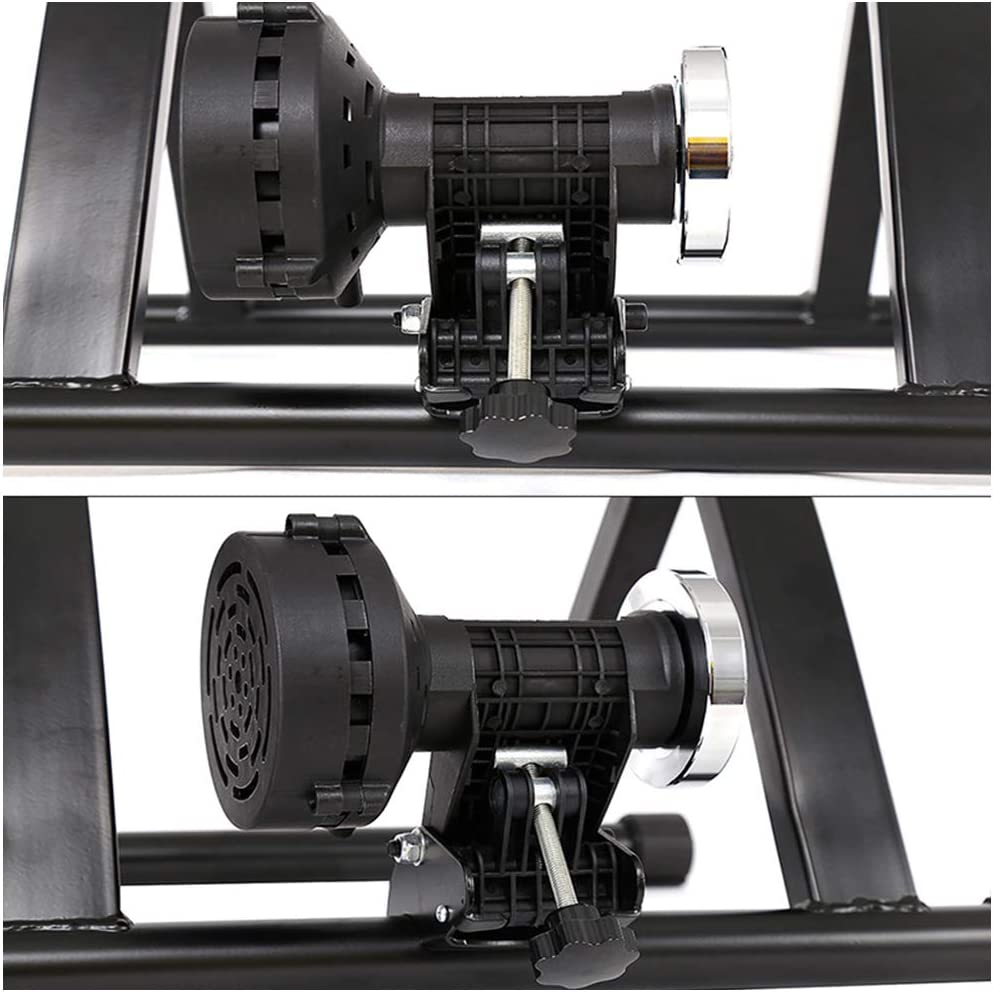 r/éduction du Bruit Silencieux 7 Vitesses magn/étique//Fil Contr/ôl/é v/élo Stationnaire Stand pour v/élo VTT Exercice int/érieur LUCKFY V/élo Formateur Stand