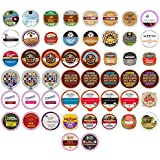 Coffee Variety Pack Sampler, Single Serve cups for the Keurig K Cup Brewer, 50 count