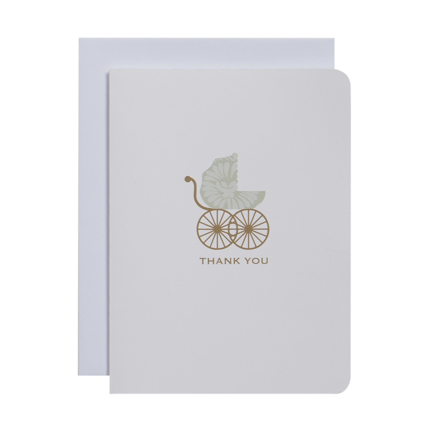CRG Boxed Thank You Notes, Carriage, 10-Count C.R. Gibson NTT-13915