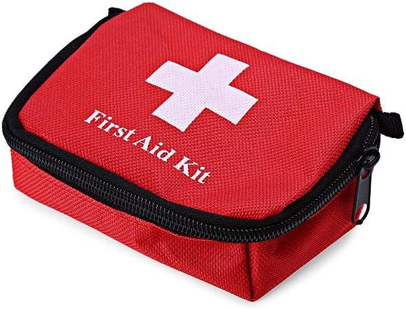 Rouge Trousses de Premier Secours Voyage Portable Sac M/édical Rameng Sac Urgence