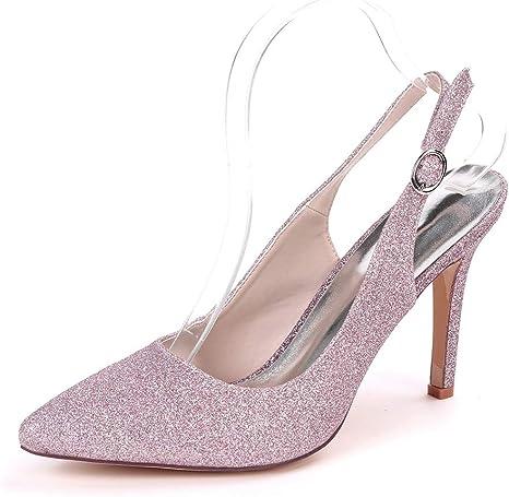 sparkly white high heels
