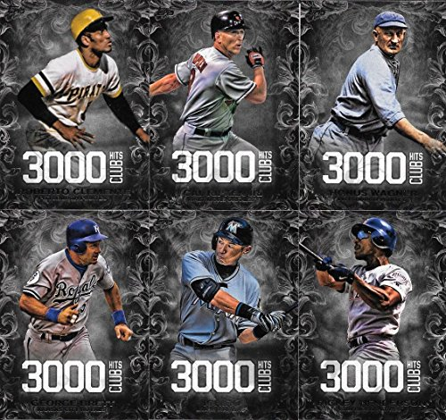 3000 HIT CLUB Series Complete Mint 20 Card Insert Set LOADED with Hall of Famers including Cal Ripken, Ichiro Suzuki and Roberto Clemente Plus Others (Wade Boggs 3000 Hit Club)