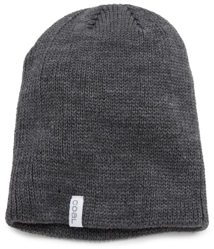 (Coal Men's The Frena Solid Beanie, Charcoal One)