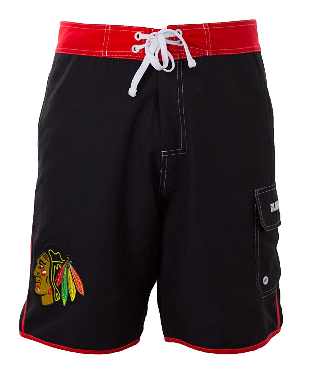 Chicago Blackhawks Crossbar Boardshorts (Medium) Calhoun