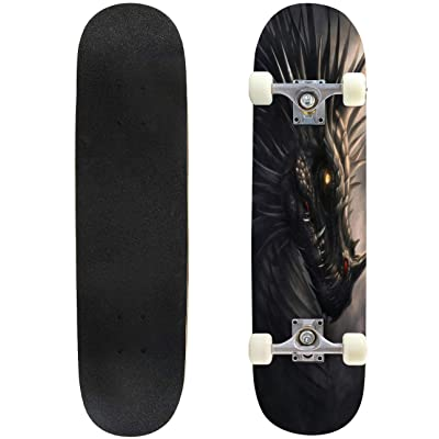 "dreadful was the din of hissing through the hall victorian engraving Skateboard Complete Longboard 8 Layers Maple Decks Double Kick Concave Skate Board, Standard Tricks Skateboards Outdoors, 31""x8"" : Sports & Outdoors"