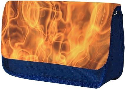 Fuego 10025, Llamas, Azul Escuela Niños Sublimación Alta calidad Poliéster Estuche de lápices con Diseño Colorido. 21x13 cm.: Amazon.es: Oficina y papelería
