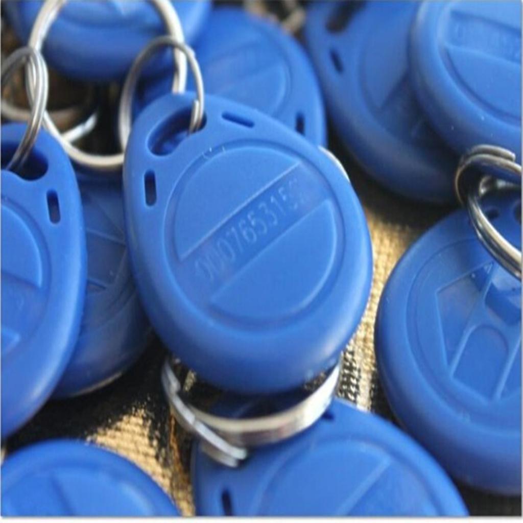 100 Unids RFID 125 KHz Entrada De Control De Puerta De Proximidad EM ID Tag//Llavero Azul