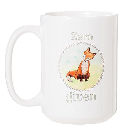 Given Oz Funny Fox Zero 15 Large Mug Y6gybf7v