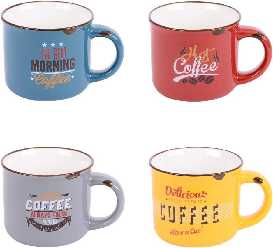 Coffret Decorative Vintage Table Passion Coffee Cups Set Of 8 Amazon De Kuche Haushalt