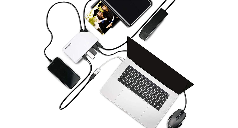 IOGEAR 6-Port SuperSpeed USB 3.0 Hub w//USB-C Cable
