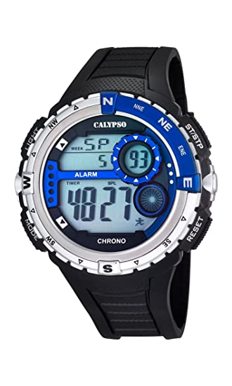 Calypso watches K5662/3 - Reloj de pulsera hombre, plástico, color negro: Amazon.es: Relojes