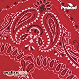 PMLAND Cowboy Bandanas (One Dozen), Red by